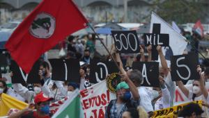 Protesto contra o governo federal no Rio de Janeiro