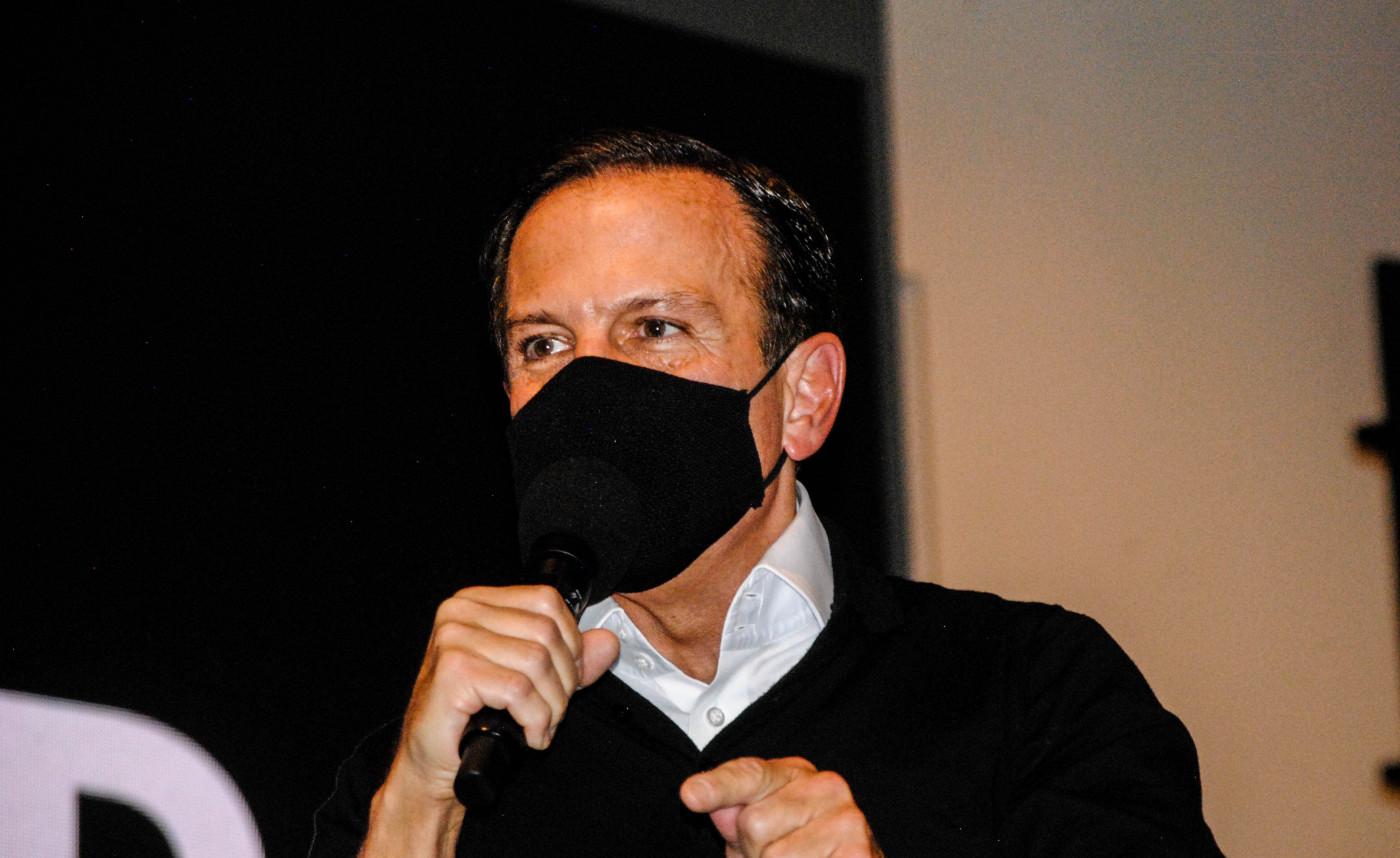 Governador de São Paulo, João Doria, durante anuncio do programa Estrada Asfaltada