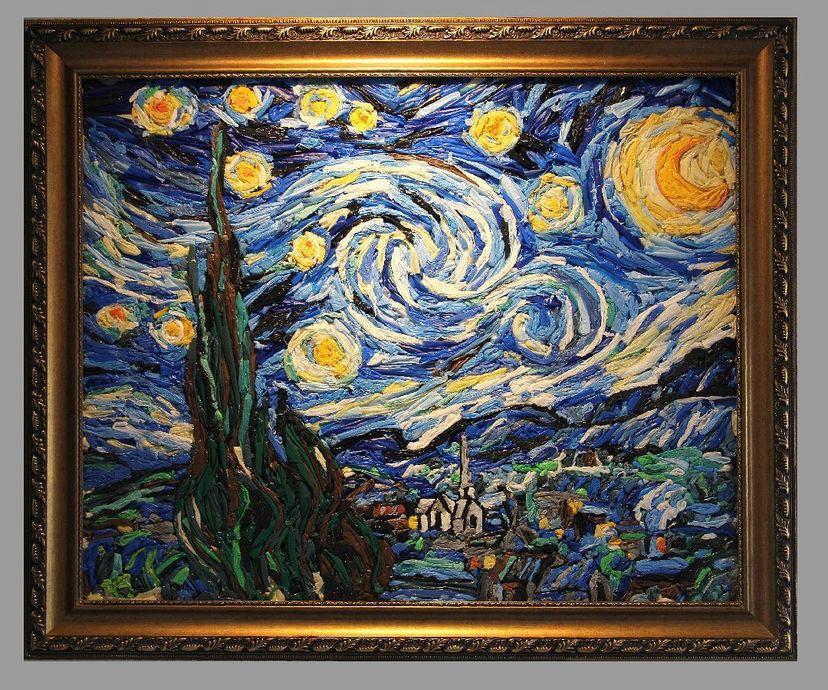 Releitura de Noite Estrelada, de Van Gogh