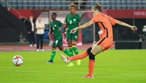 Vivianne Miedema marcou quatro vezes na vitória da Holanda sobre a Zâmbia nos Jogos de Tóquio