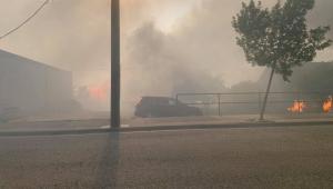 Incêndio na cidade de Lytton, no Canadá