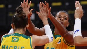 Seleção brasileira feminina de vôlei está invicta nos Jogos de Tóquio