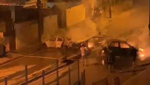 Imagem de um carro com fumaça em Jarinu