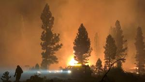 Incêndio em Oregon, nos Estados Unidos