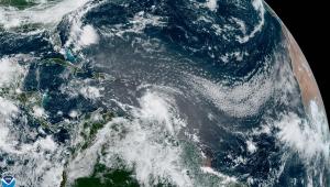 imagem aérea do furacão elsa