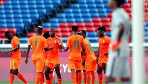 A Costa do Marfim venceu a Arábia Saudita em jogo válido pelo Grupo D do futebol masculino de Tóquio-2020