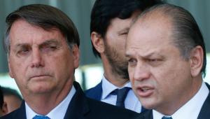 O presidente Jair Bolsonaro e o deputado federal Ricardo Barros