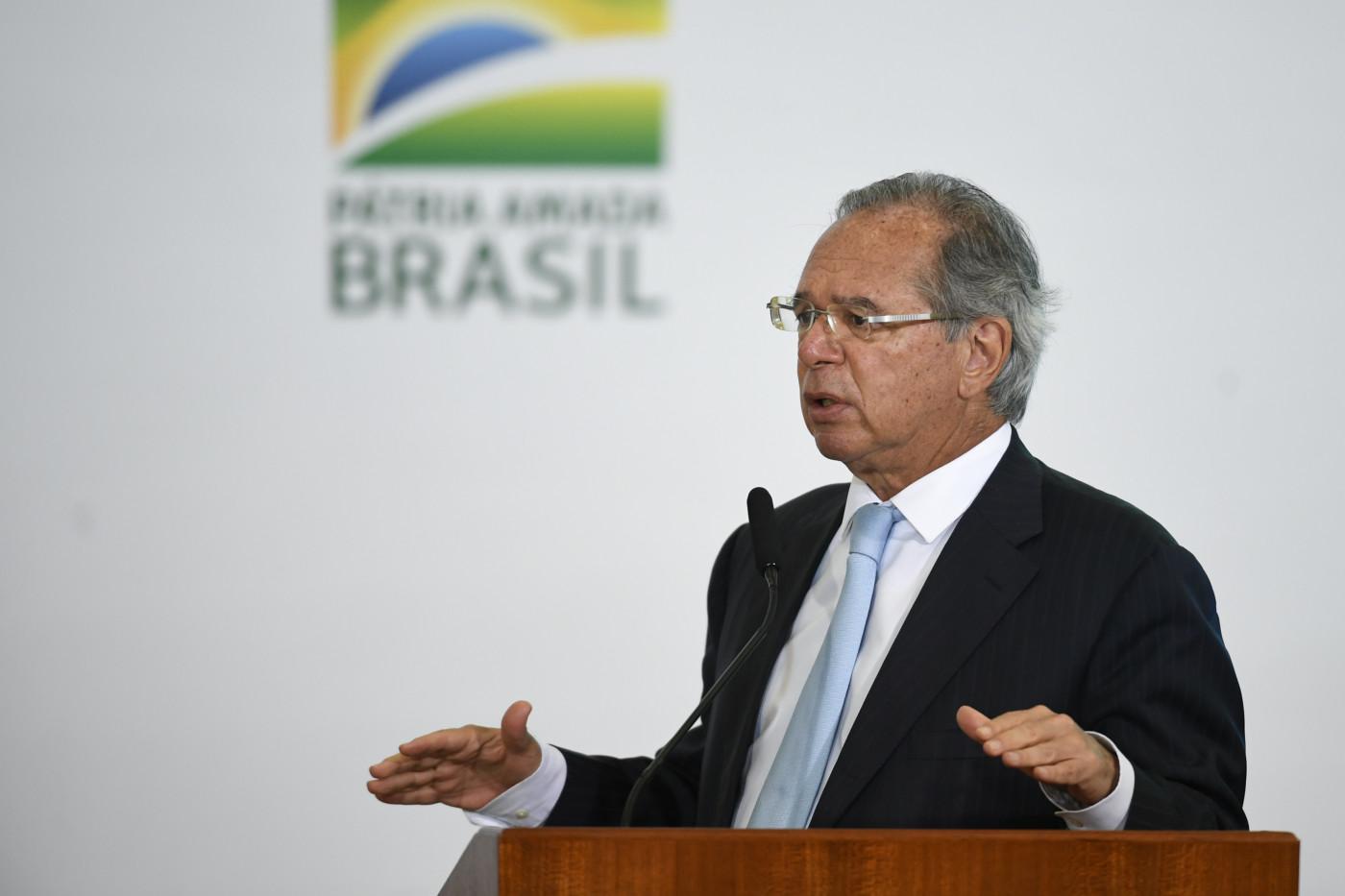 Paulo Guedes durante Solenidade alusiva à Sanção da Lei de Capitalização da Eletrobrás