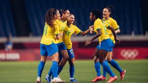 Andressa Alves marcou para a seleção brasileira na partida diante da Zâmbia, válida pelos Jogos Olímpicos de Tóquio
