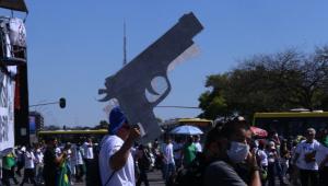 Manifestação pró-armas em Brasília
