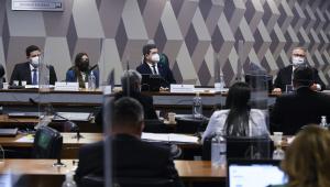 Membros da CPI da Covid-19 ouvem diretora da Precisa Medicamentos