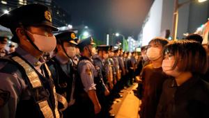 A polícia japonesa prendeu um homem em manifestação contra a realização dos Jogos Olímpicos de Tóquio