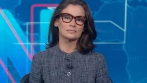 Renata Vasconcellos apresentando o Jornal Nacional
