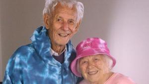 Vô Nelson com a esposa, Nair Donadelli