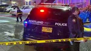Carro de polícia de Portland, nos Estados Unidos