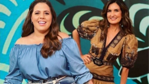 Tati Machado e Fátima Bernardes no Encontro