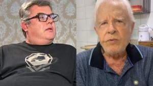 Rodrigo Moreira dando entrevista e Cid Moreira falando
