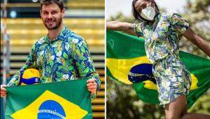 Bruninho e Ketleyn Quadros serão porta-bandeira do Brasil