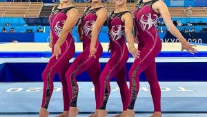 delegação feminina de ginástica da Alemanha