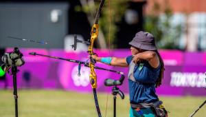 Ana Marcelle no tiro com arco