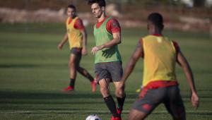 Rodrigo Caio treinando