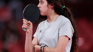 Hend Zaza, mesa-tenista de 12 anos