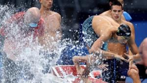 revezamento 4x200m livre na natação