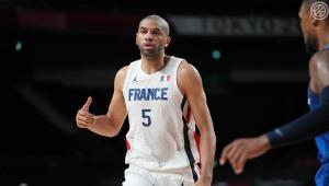 Jogador da França durante o jogo contra os EUA