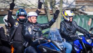 Jair Bolsonaro participou de motociata com seus apoiadores no Rio Grande do Sul, na manhã deste sábado, 10 de julho