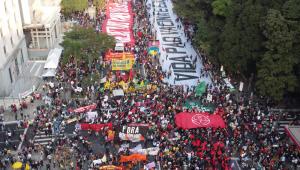 Manifestantes pediram o impeachment de Jair Bolsonaro na Avenida Paulista