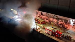 Cinemateca na Vila Leopoldina pega fogo, na cidade de São Paulo, SP