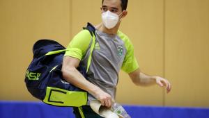 Hugo Calderano está nas quartas de final do tênis de mesa nas Olimpíadas de Tóquio