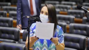 Deputada federal Renata Abreu em sessão na Câmara