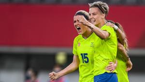 Jogadoras da Suécia
