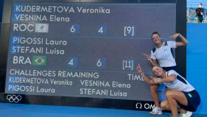 Laura e Luisa foram medalha de bronze no tênis de duplas nas Olimpíadas de Tóquio