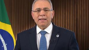 ministro marcelo queiroga falando em pronunciamento