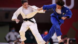 Maria Portela caiu na primeira rodada do judô nos Jogos olímpicos de Tóquio