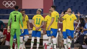 Matheus Cunha marcou na vitória do Brasil sobre o Egito nas Olimpíadas de Tóquio
