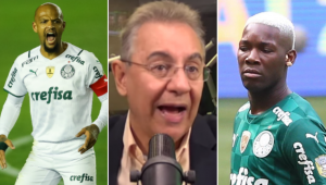 Flavio Prado revelou o racha entre Felipe Melo e jovens jogadores da base do Palmeiras