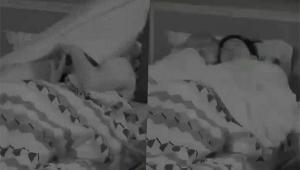 vultos de pessoas deitadas em cama