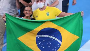Rebeca Andrade foi medalha de prata no individual geral dos Jogos Olímpicos de Tóquio