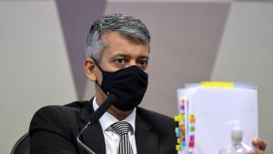 Roberto Dias presta depoimento na CPI da Covid-19