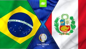 montagem com as bandeiras do brasil e do peru