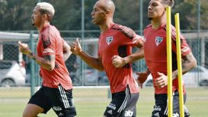 Miranda, Rigoni e Luciano treinaram nesta quinta-feira e avançaram na recuperação