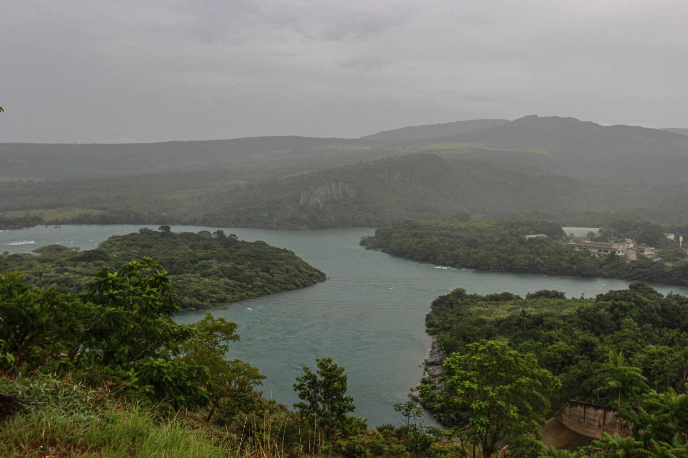 Vista da Represa de Furnas, que fica em Capitólio, em Minas Gerais