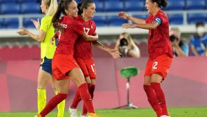 A seleção canadense foi campeã do futebol feminino nos Jogos de Tóquio