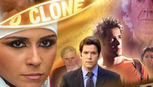 Cartaz de divulgação com os personagens de O Clone