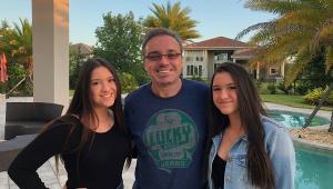 Gugu Liberato e suas filhas