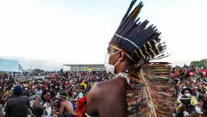 Indígenas acompanham sessão do Supremo Tribunal Federal