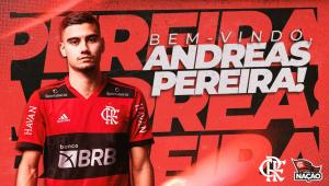 Flamengo anuncia contratação de Andreas Pereira